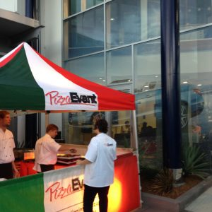 Pop Up Pizza at Mercedes to help Launch a new model