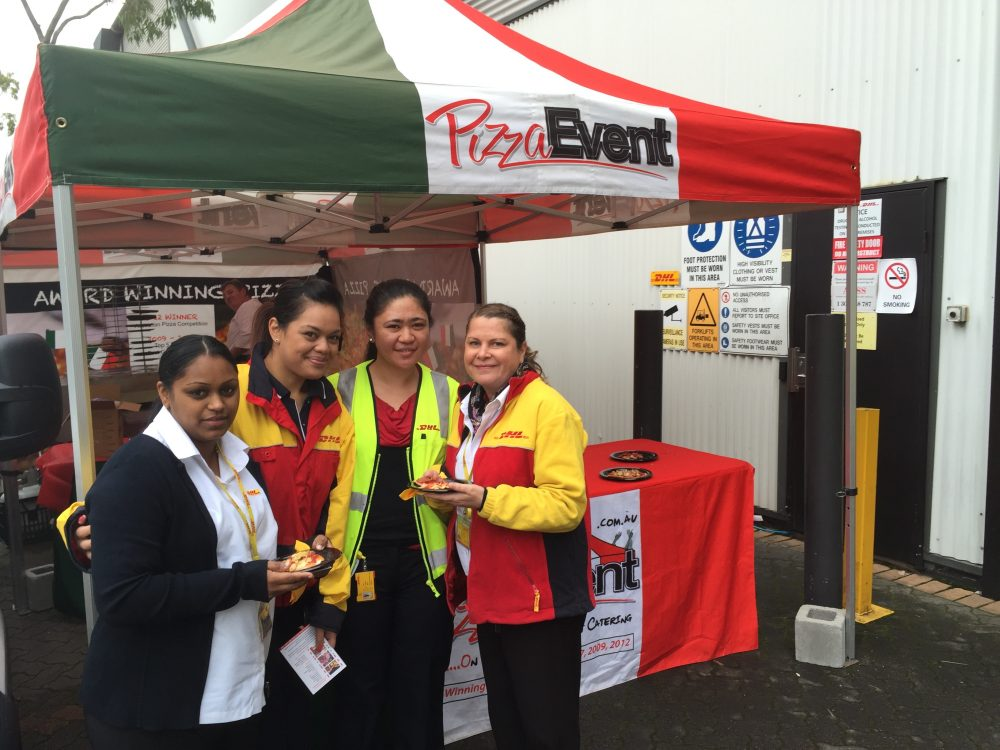 Italian Pizza Event at Work - DHL - Corporate Catering - Sydney